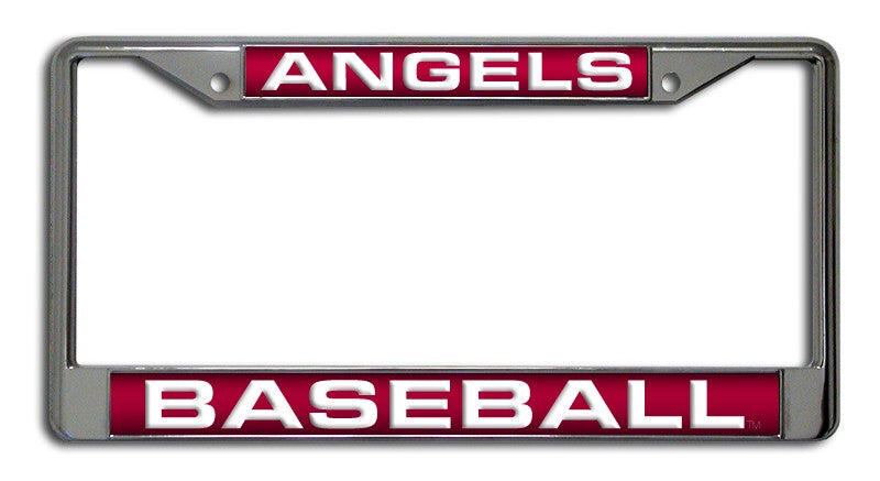 Los Angeles Angels of Anaheim Laser Cut Chrome License Plate Frame
