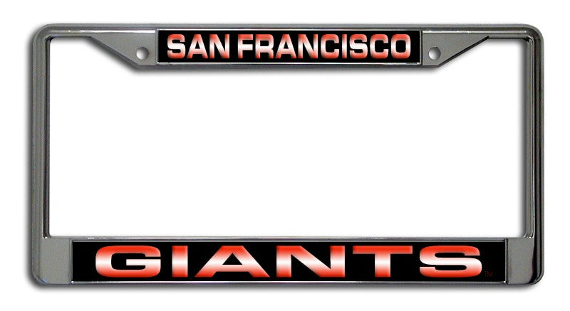 San Francisco Giants Laser Cut Chrome License Plate Frame
