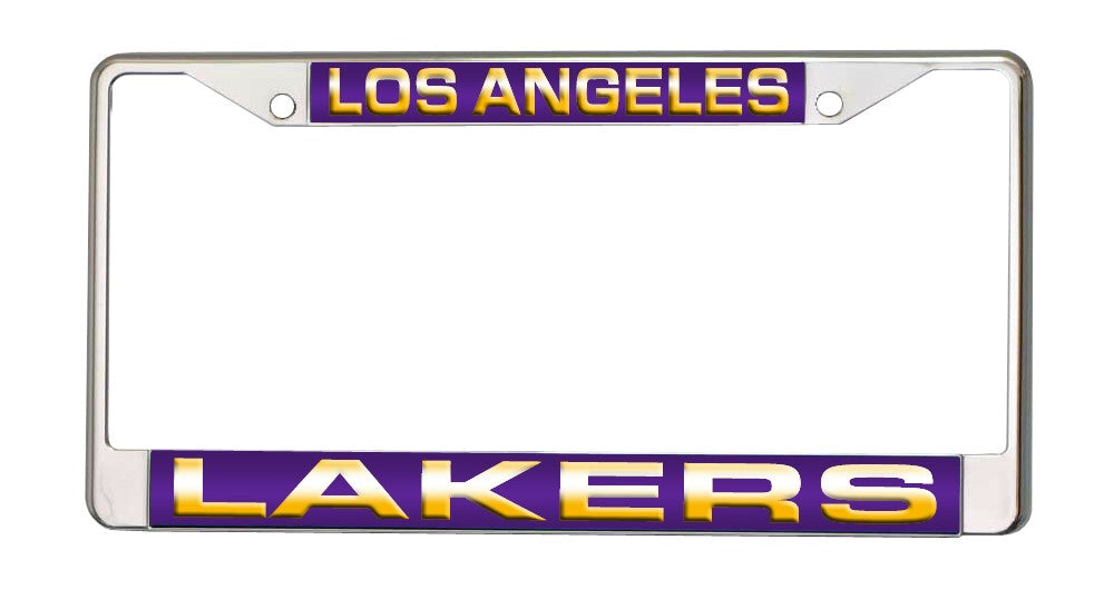Los Angeles Lakers Laser Cut Chrome License Plate Frame