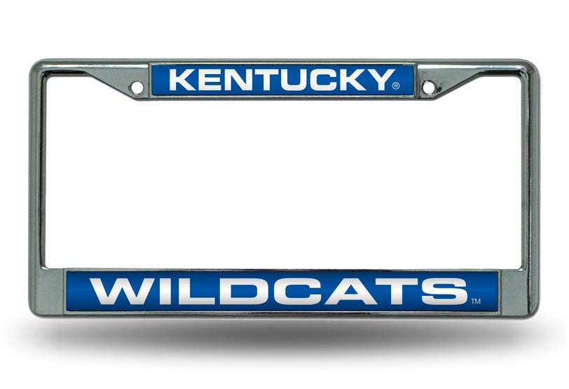 Kentucky Wildcats Laser Cut Chrome License Plate Frame