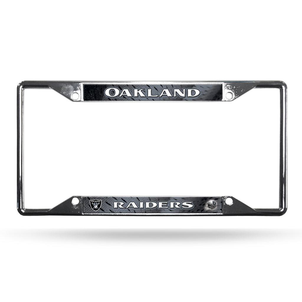 Raiders Chrome License Plate Frame