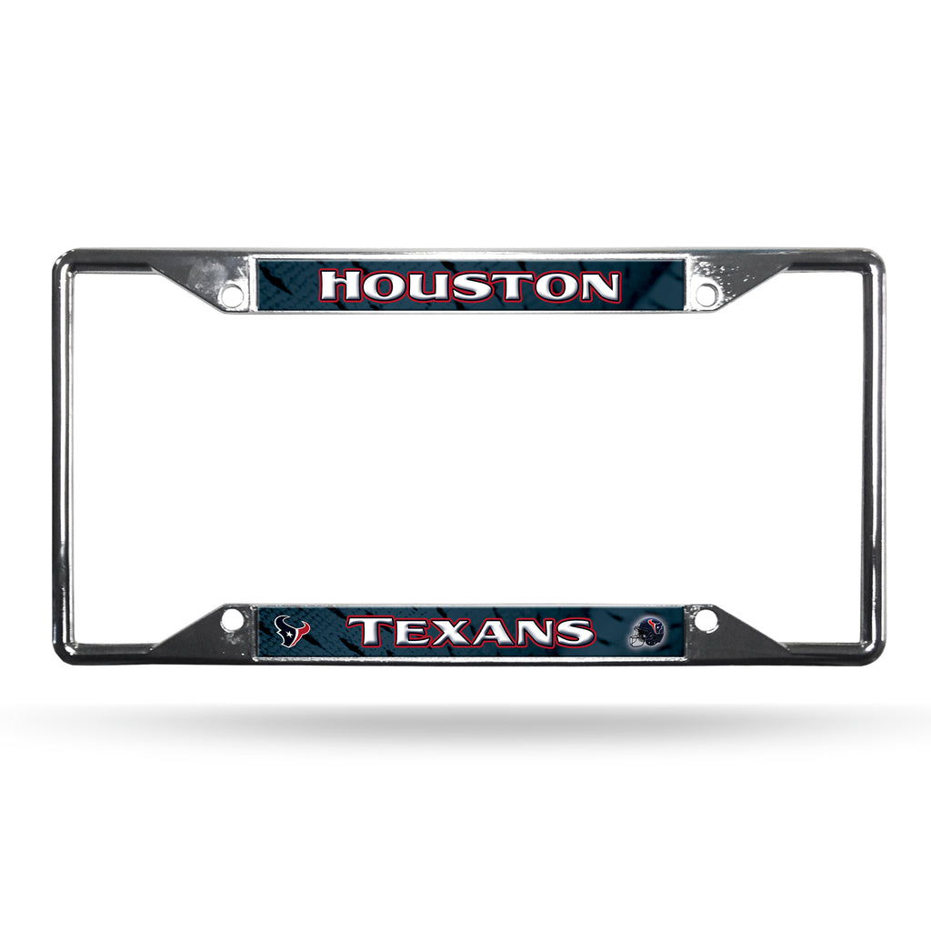 Houston Texans Chrome Easy View License Plate Frame