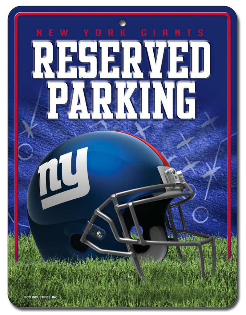 New York Giants Metal Parking Sign