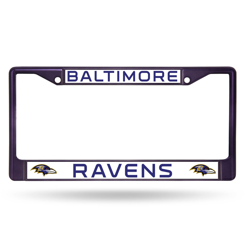 Baltimore Ravens Metal License Plate Frame - Purple