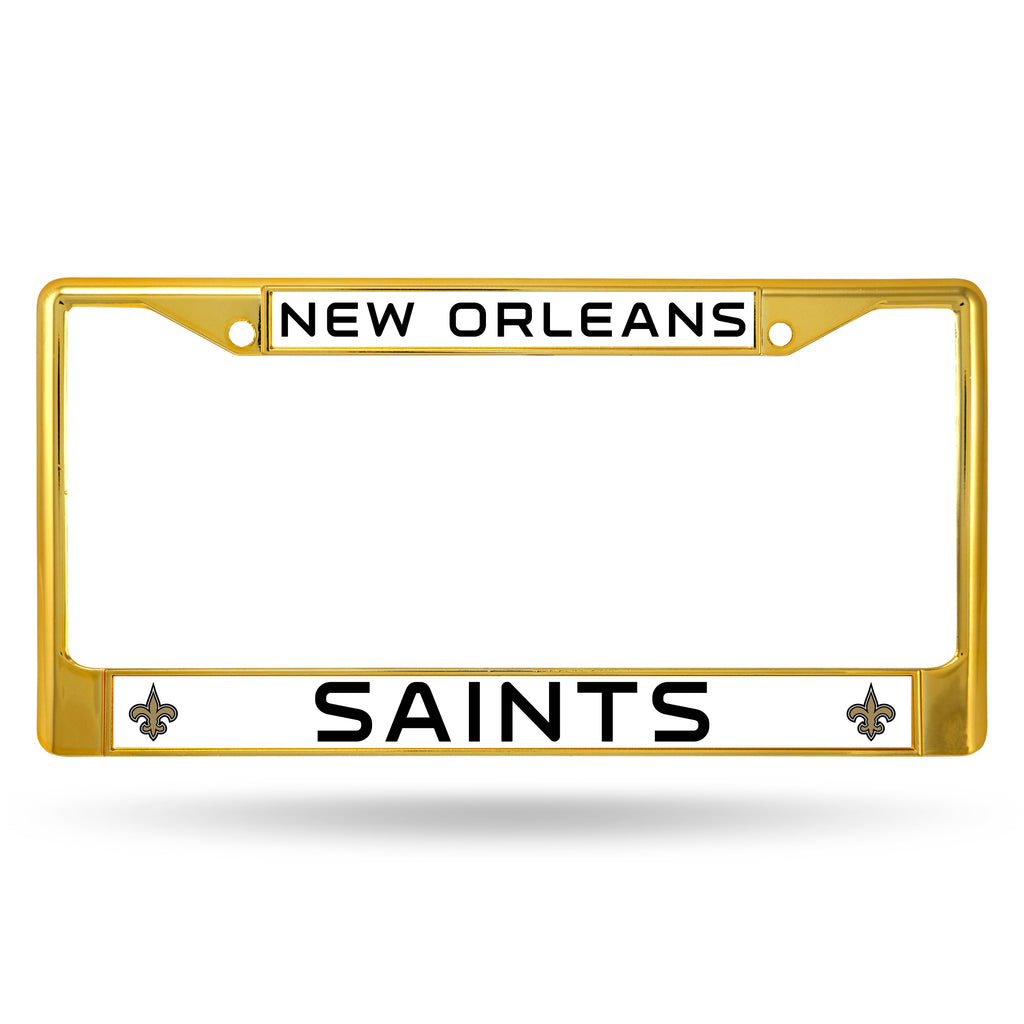 New Orleans Saints Metal License Plate Frame - Gold