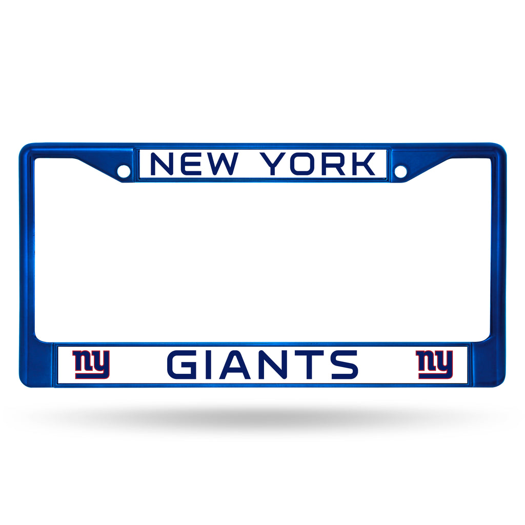 New York Giants Metal License Plate Frame - Blue