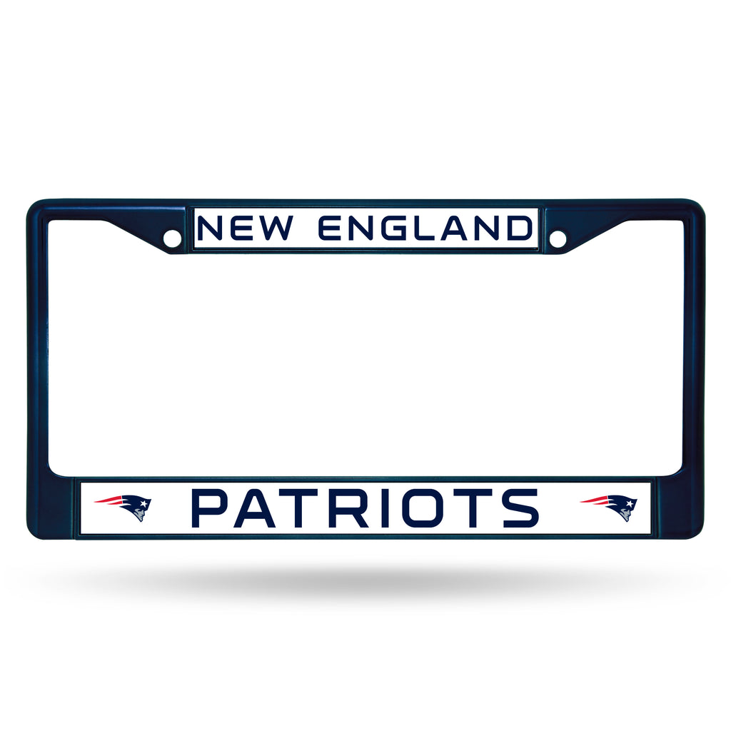 New England Patriots Metal License Plate Frame - Navy