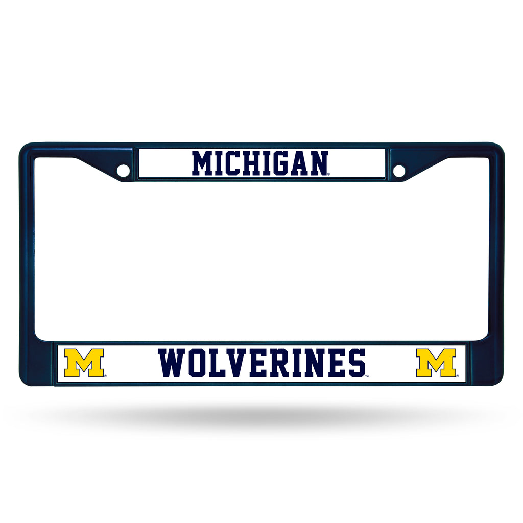 Michigan Wolverines Metal License Plate Frame - Navy