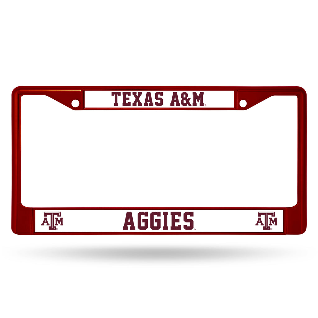 Texas A&M Aggies Metal License Plate Frame - Maroon