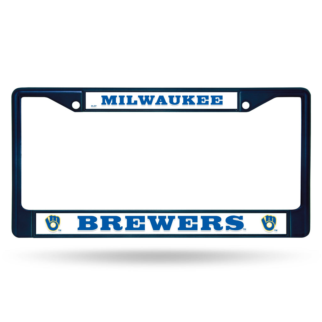 Milwaukee Brewers Metal License Plate Frame - Navy