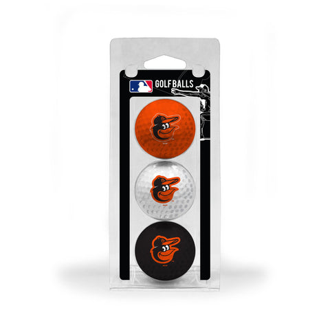 Baltimore Orioles 3 Golf Ball Pack