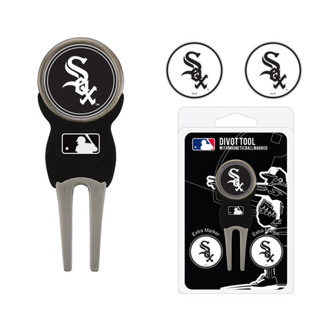 Chicago White Sox Divot Tool Pack With 3 Golf Ball Markers