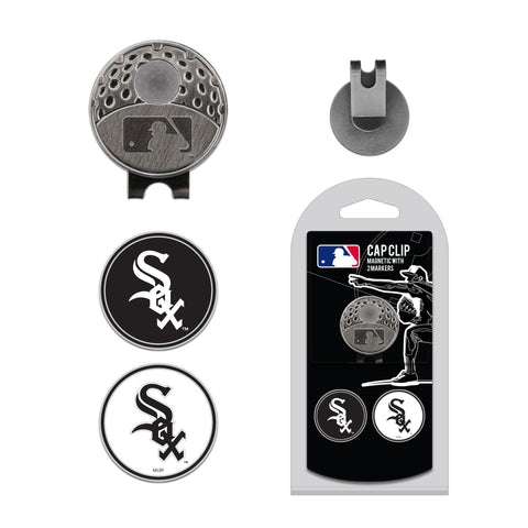 Chicago White Sox Cap Clip With 2 Golf Ball Markers