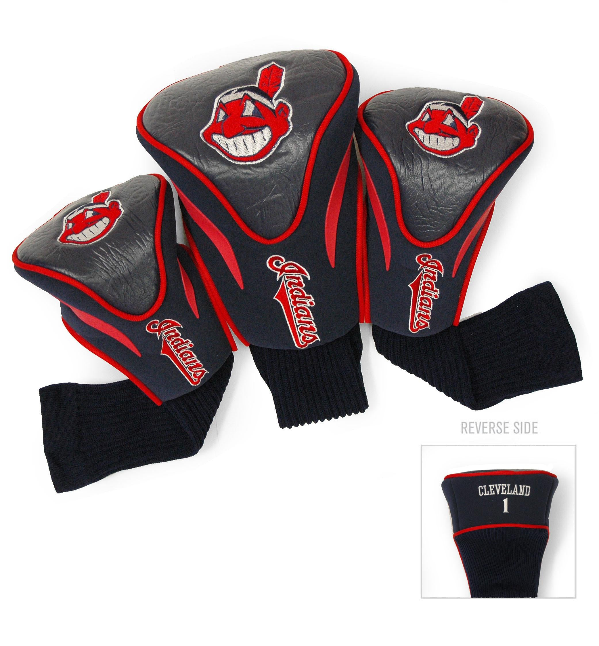 Cleveland Indians 3 Pack Contour Head Covers