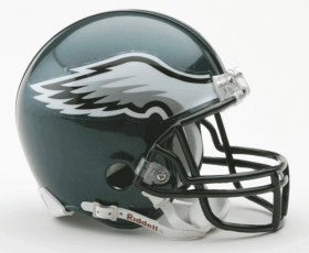 Philadelphia Eagles Replica Mini Helmet w/ Z2B Face Mask