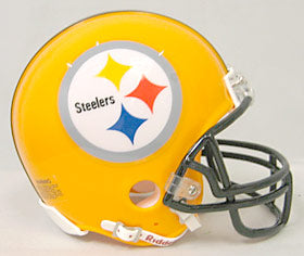 Pittsburgh Steelers 75th Anniversary Throwback Replica Mini Helmet w/ Z2B Face Mask