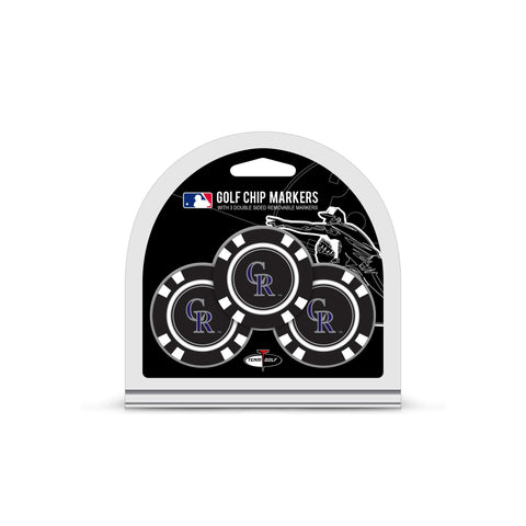 Colorado Rockies 3 Pack Golf Chip Ball Markers