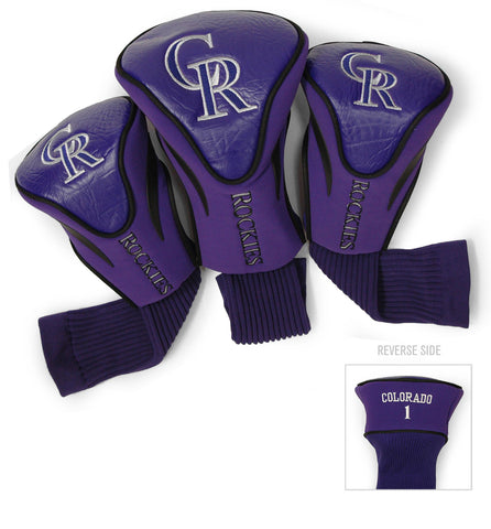 Colorado Rockies 3 Pack Contour Head Covers
