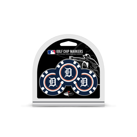 Detroit Tigers 3 Pack Golf Chip Ball Markers