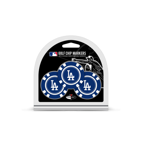 Los Angeles Dodgers 3 Pack Golf Chip Ball Markers