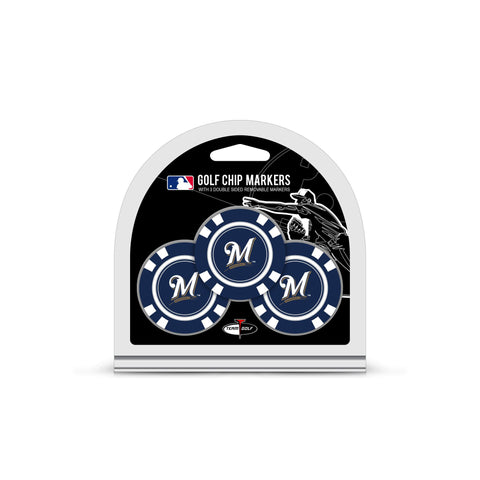 Milwaukee Brewers 3 Pack Golf Chip Ball Markers