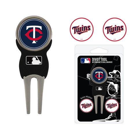 Minnesota Twins Divot Tool Pack With 3 Golf Ball Markers