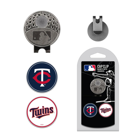 Minnesota Twins Cap Clip With 2 Golf Ball Markers
