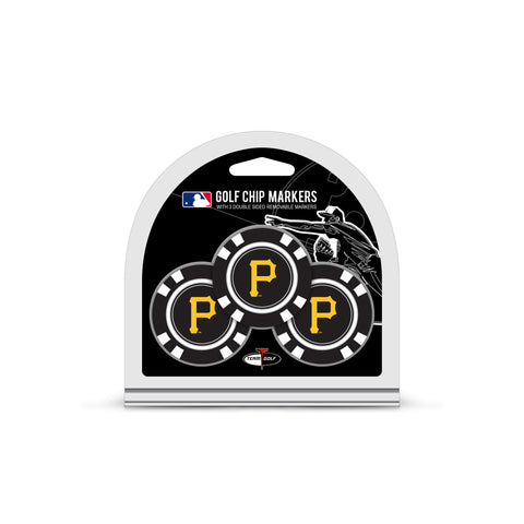 Pittsburgh Pirates 3 Pack Golf Chip Ball Markers