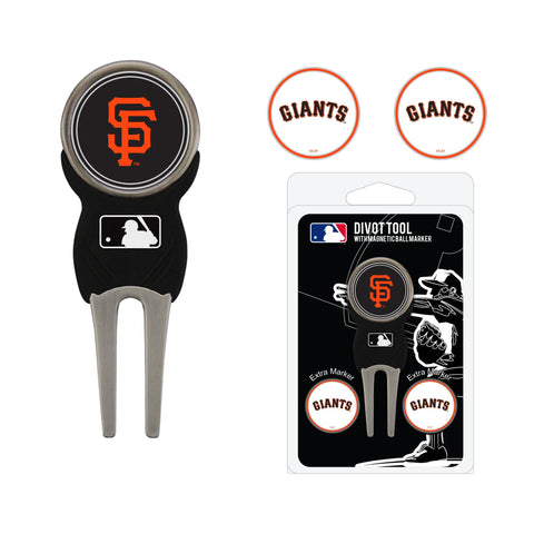 San Francisco Giants Divot Tool Pack With 3 Golf Ball Markers