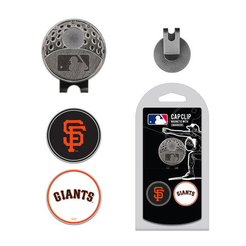 San Francisco Giants Cap Clip With 2 Golf Ball Markers
