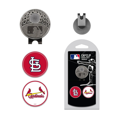 St Louis Cardinals Cap Clip With 2 Golf Ball Markers