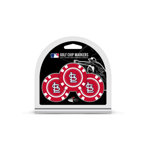 St Louis Cardinals 3 Pack Golf Chip Ball Markers