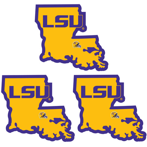LSU Tigers   Home State Decal 3pk