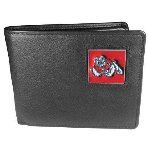 Fresno St. Bulldogs Leather Bifold Wallet