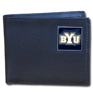BYU Cougars Leather Bifold Wallet