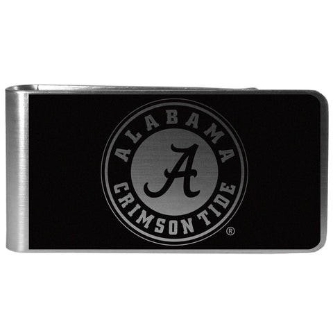 Alabama Crimson Tide   Black and Steel Money Clip