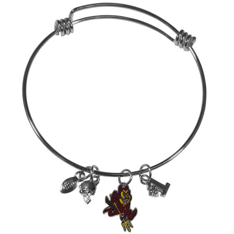 Arizona St. Sun Devils Charm Bangle Bracelet