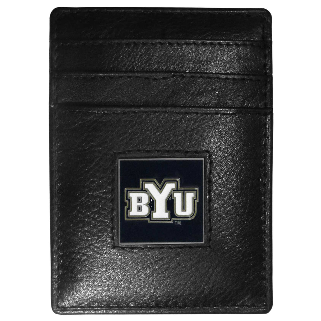 BYU Cougars Leather Money Clip/Cardholder