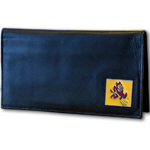 Arizona St. Sun Devils Deluxe Leather Checkbook Cover