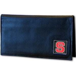 N. Carolina St. Wolfpack Deluxe Leather Checkbook Cover
