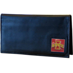Iowa St. Cyclones Deluxe Leather Checkbook Cover