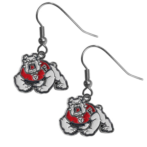 Fresno St. Bulldogs Dangle Earrings - Chrome