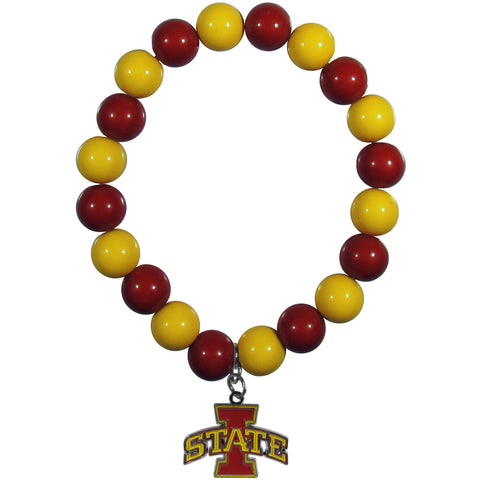 Iowa St. Cyclones Fan Bead Bracelet