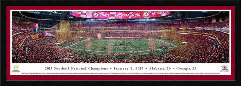 "Alabama   2017 College Football National Champion Single Mat, Select Framed Panoramic Print 15.5"" L x 42"" W"