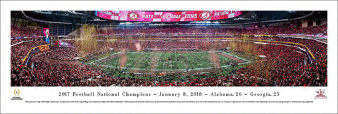 "Alabama   2017 College Football National Champion Unframed Panoramic Poster 13.5"" L x 40"" W"