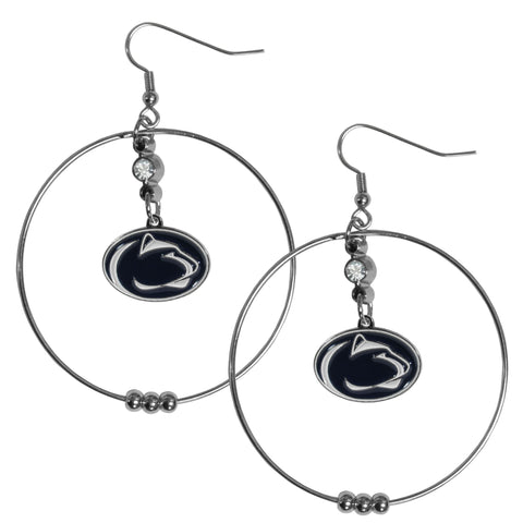 Penn St. Nittany Lions 2 Inch Hoop Earrings