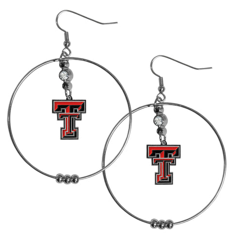 Texas Tech Raiders 2 Inch Hoop Earrings