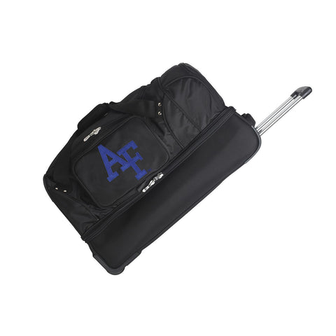 Air Force Falcons 27in Wheeled Duffel Nylon bag-BLACK