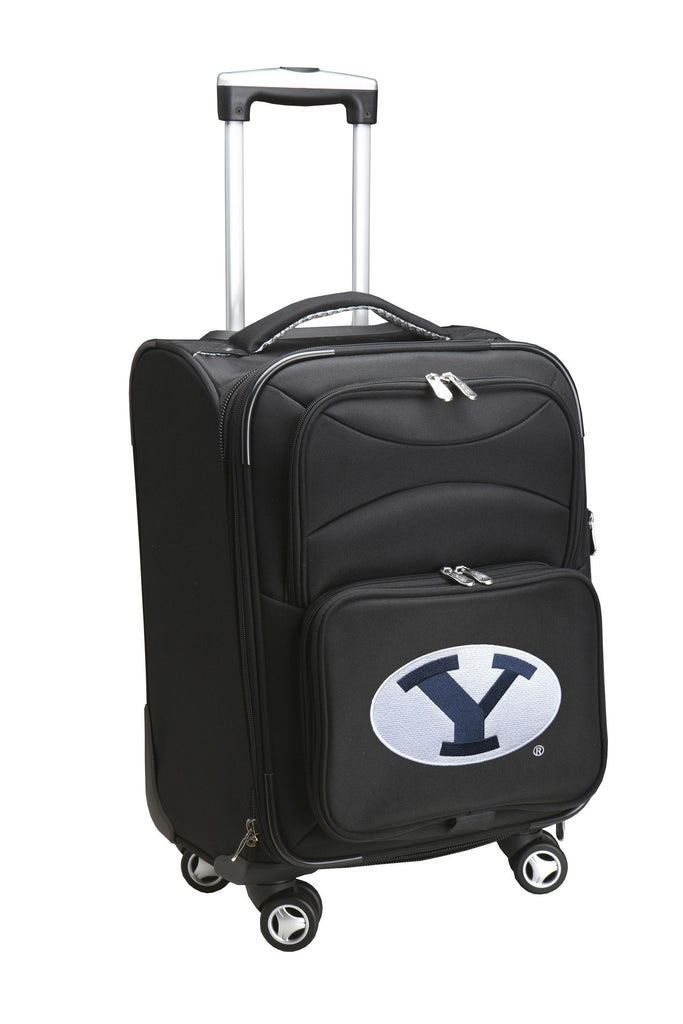 Brigham Young Cougars Luggage Carry-On 21in Spinner Softside Nylon-BLACK