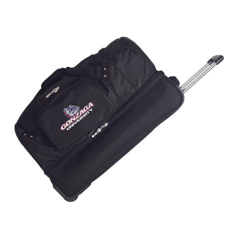 Gonzaga University Bulldogs 27in Wheeled Duffel Nylon bag-BLACK